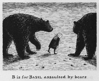 Edward Gorey, B is for Basil