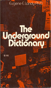 Cover of Eugene Landy's Underground Dictionary